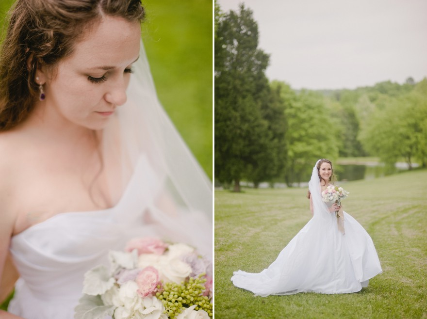 natural bridal portrait green lawn charlotte nc