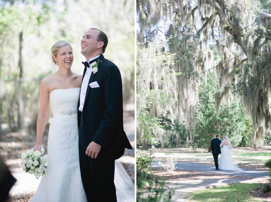 spanish moss wedding portrait