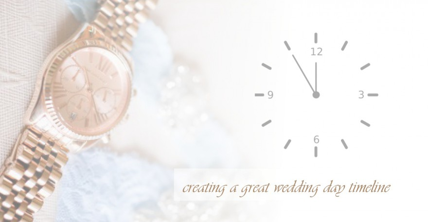 creating a wedding day time line how to