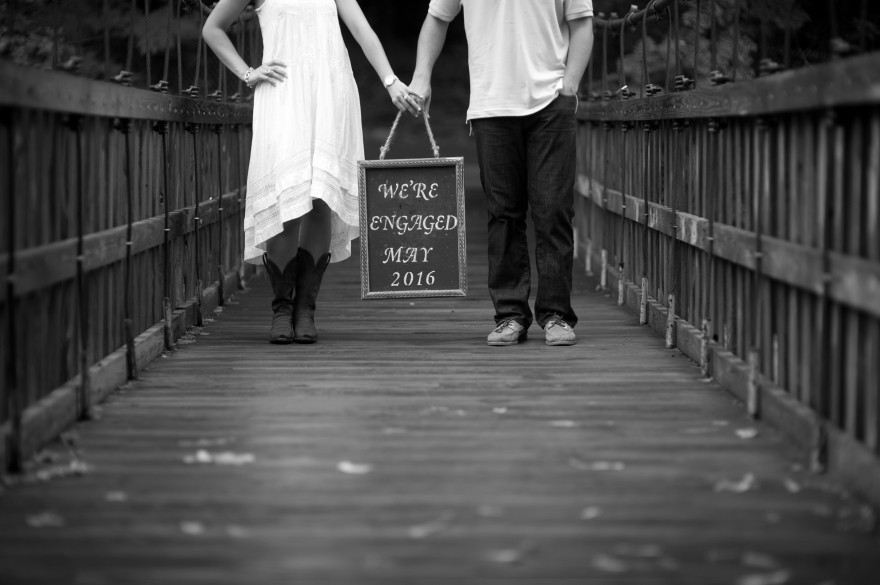 chalkboard engagement sign
