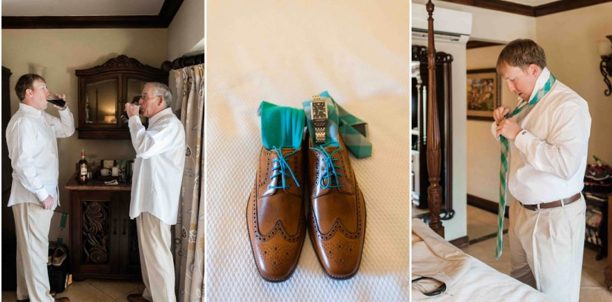 teal groom tie shoes laces
