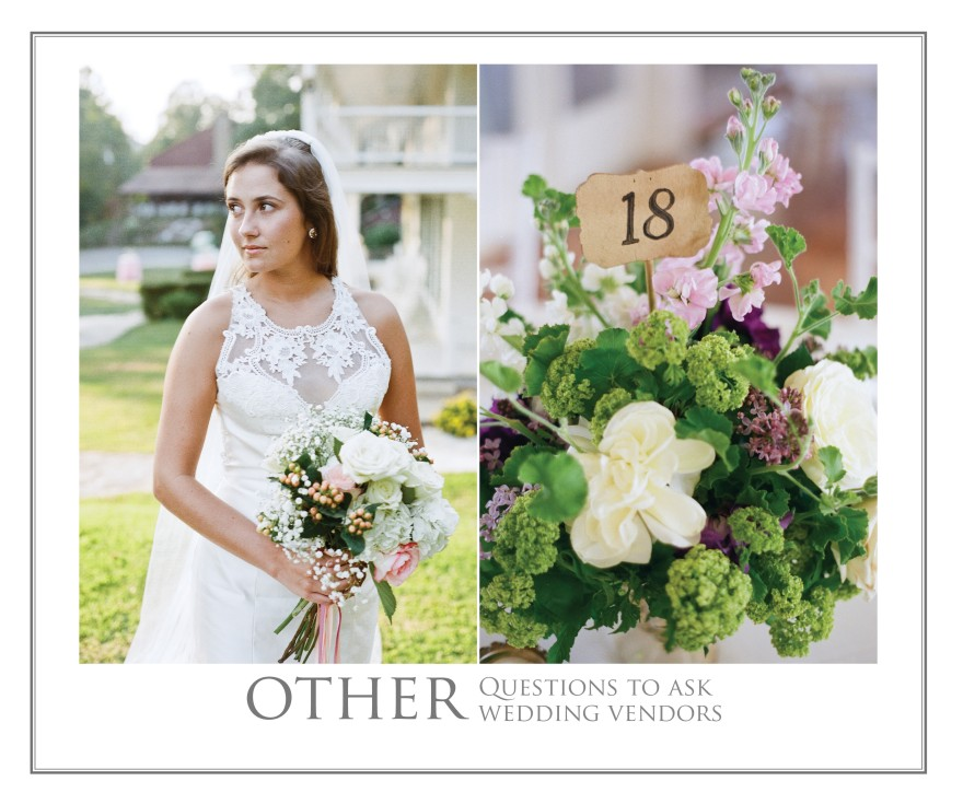 other questions to ask wedding photographers videographers venues