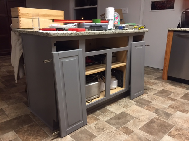 Hereu0027s The Overall Design On The Ikea Designer Iu0027ve Done. The Island  Cabinets Are Grey