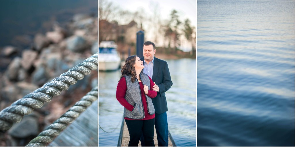 lake norman engagement session