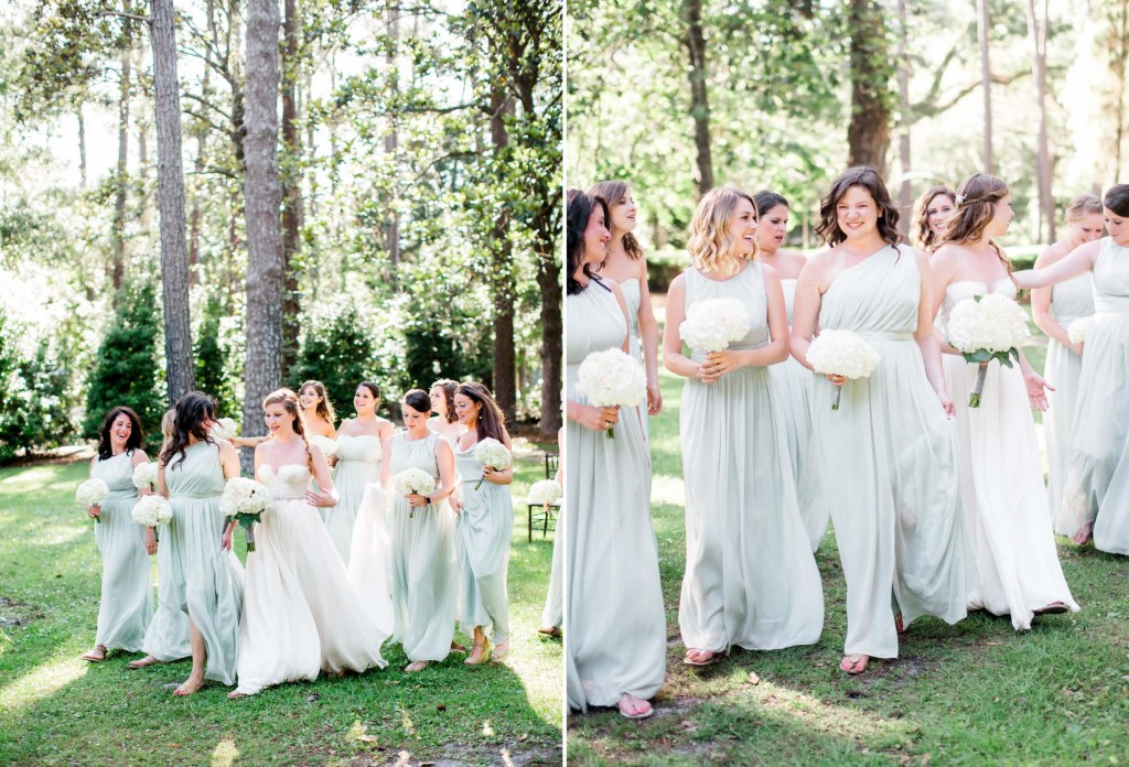 mint bridesmaid gown
