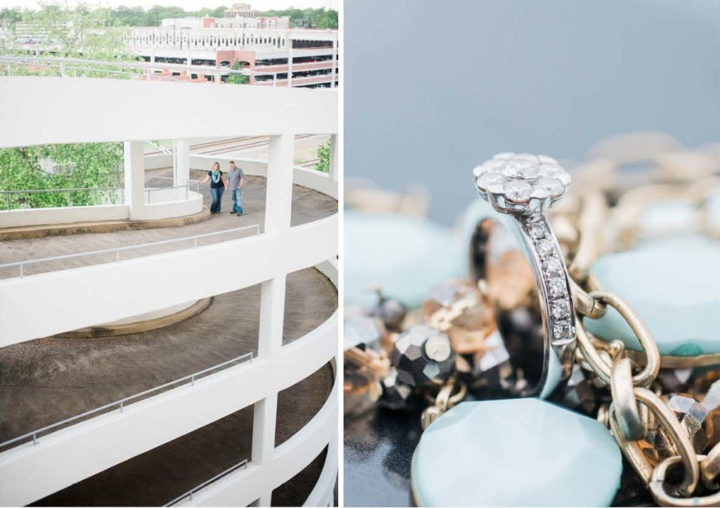 navy teal engagement photos