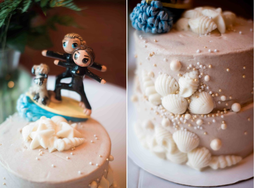 beach wedding cake surfer cake topper