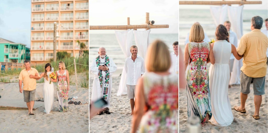 bride processional carolina beach nc wedding
