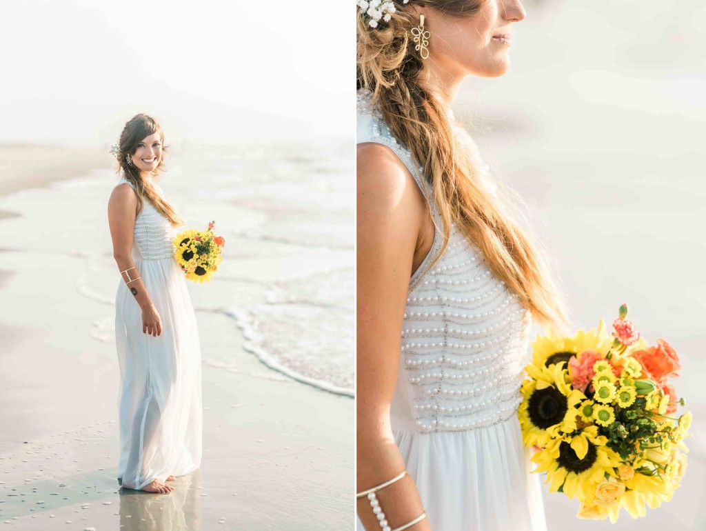 carolina beach bridal session sunrise