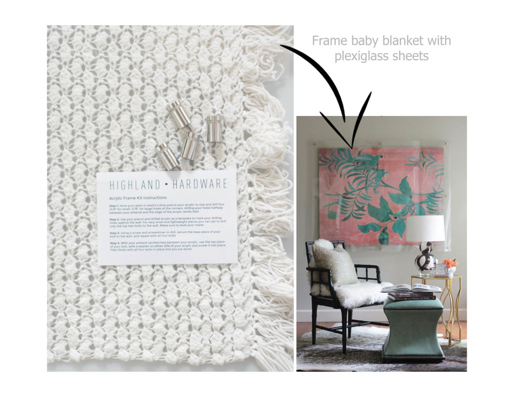 acrylic frame blanket instructions diy