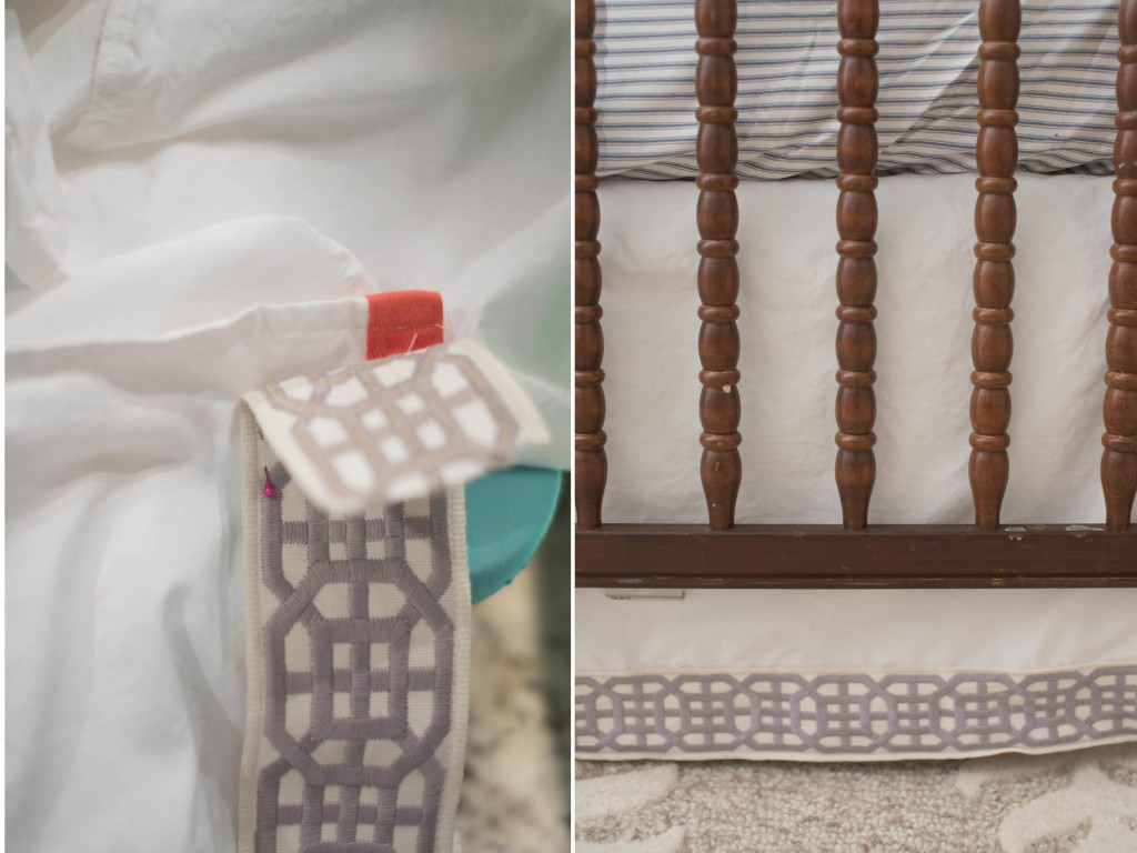 diy crib skirt pretty trim tape