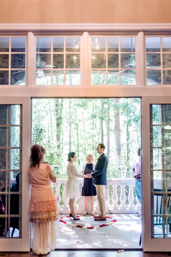 small back porch wedding