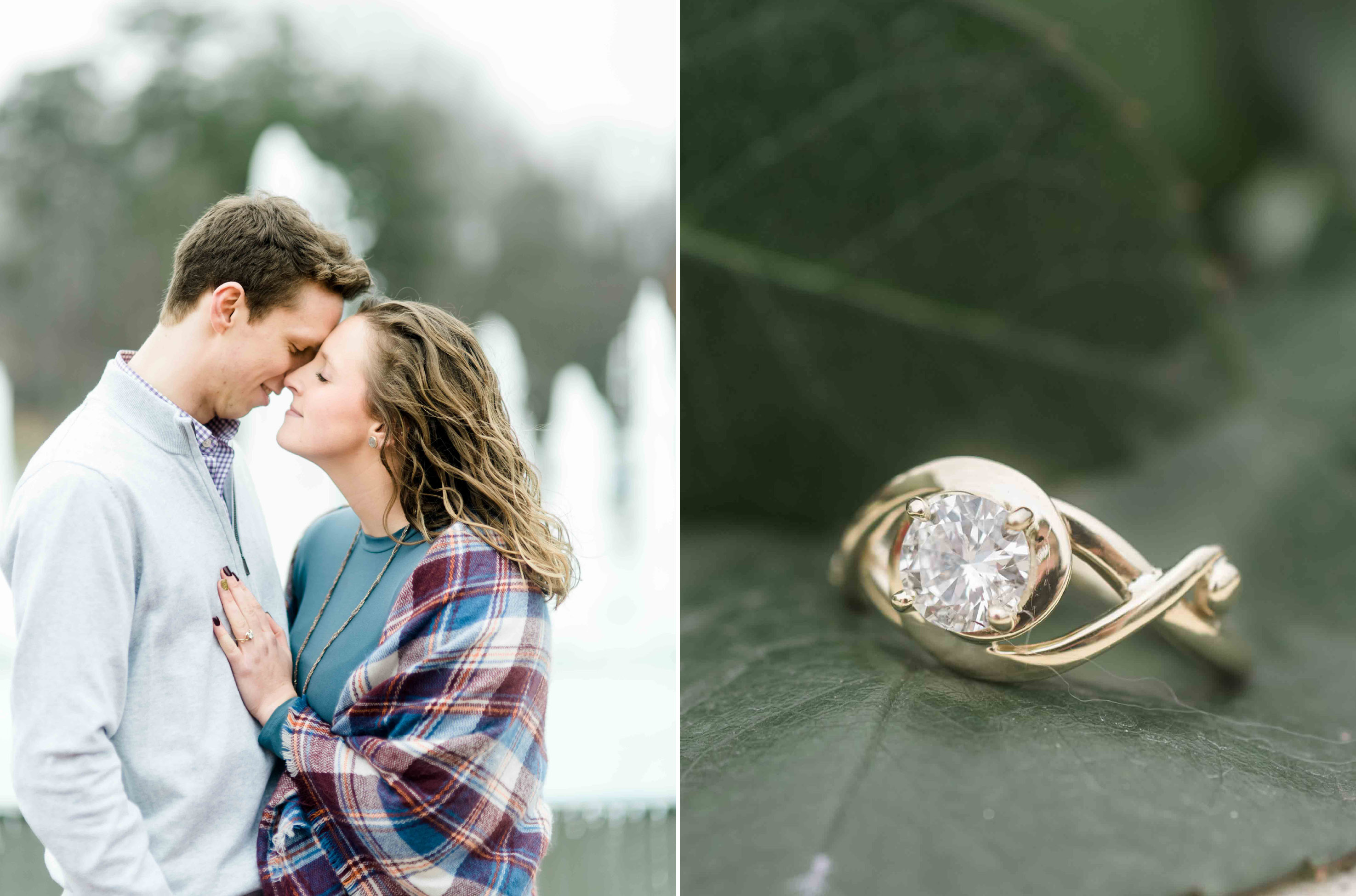 gold engagement ring proposal photographer