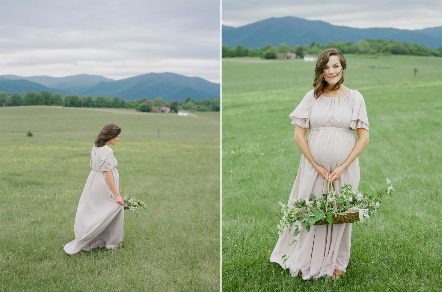 mountain maternity session asheville high country