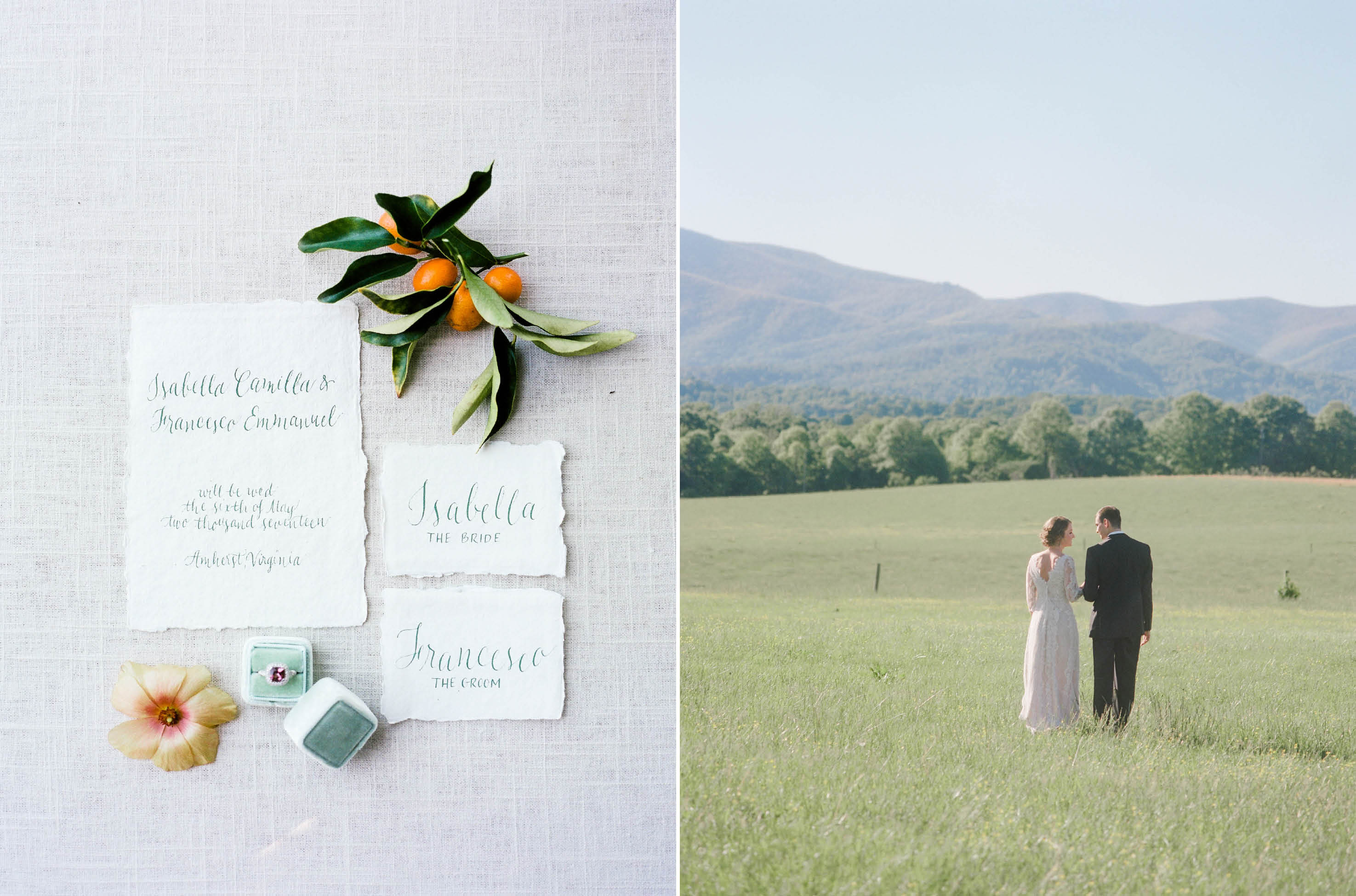 mountain wedding nc calligraphy by carol