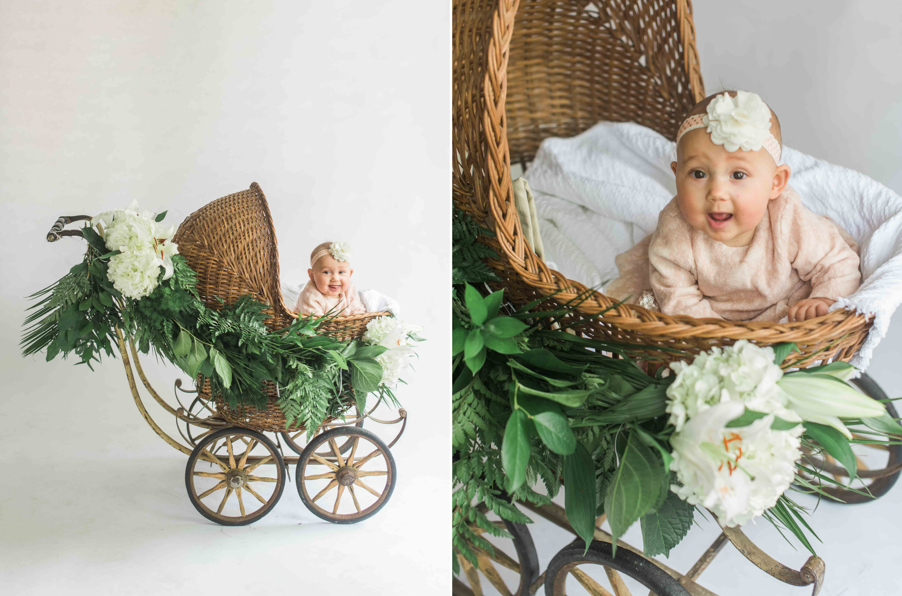 baby in buggy carriage